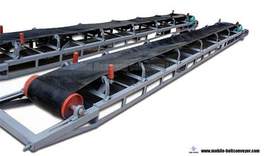 Flat And Inclined Mobile Conveyor Belt System For Truck Loading And Unloading