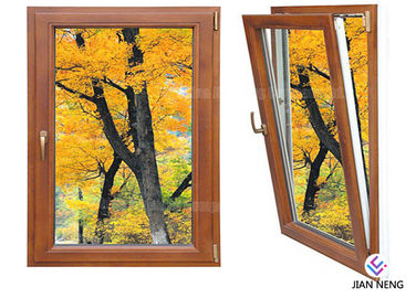 Inward Tilt Turn Aluminium Windows And Doors Wooden Color With Powder Coating