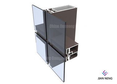 6060 6061 6063 Curtain Aluminum Door Profile Hidden Frame 1.2mm -2mm Thickness